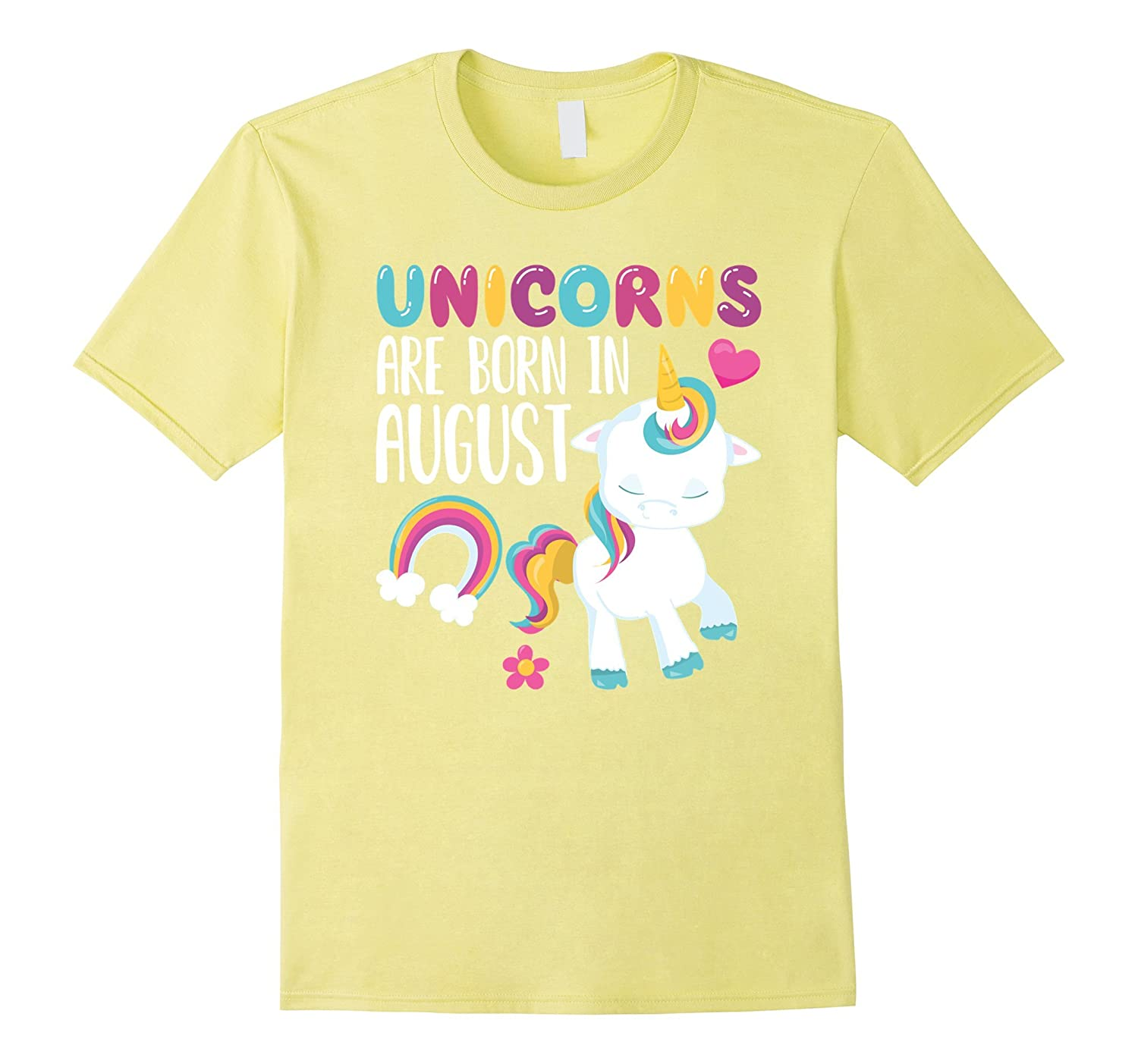 9bb4238f0 Unicorns Are Born In August Novelty Birthday T-Shirt-PL – Polozatee