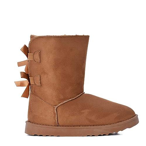 Rebajas Botines Estilo Australiano con Forro de Pelo y Cierre Elástico: Amazon.es: Zapatos y complementos