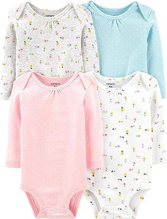 De Carter Baby Girls 4 Pack Bodies para (bebé) – varios colores ...