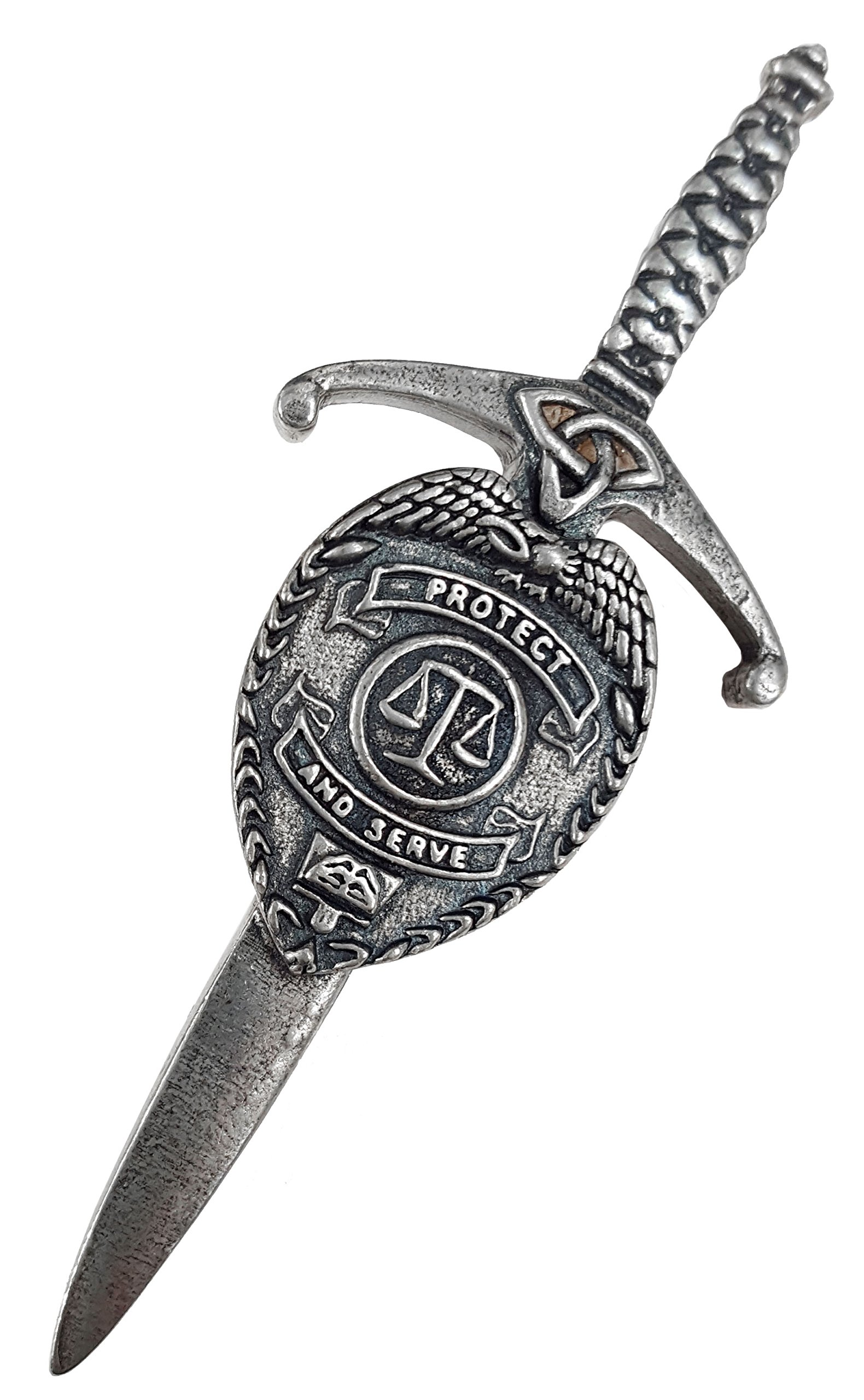 Protect and Serve Law Enforcement Kilt Pin