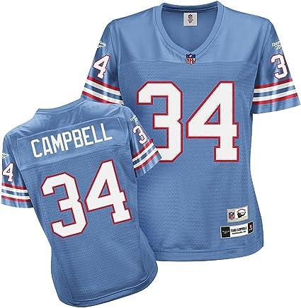 Amazon.com : Reebok Houston Oilers Earl Campbell Women's Throwback ...