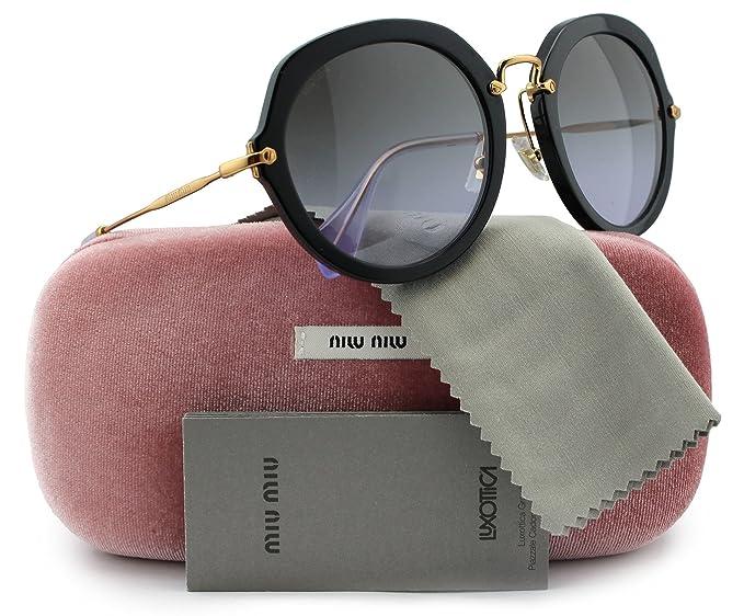 c771a74d8ca MIU MIU SMU05Q Sunglasses Black w Grey Gradient (1AB-3H0) SMU 05Q ...