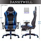 Fantastic Dansitwell Gaming Chairs For Adults Ergonomic Adjustable Racing Chair With Footrest High Back Computer Chair With Headrest And Lumbar Support Blue Squirreltailoven Fun Painted Chair Ideas Images Squirreltailovenorg