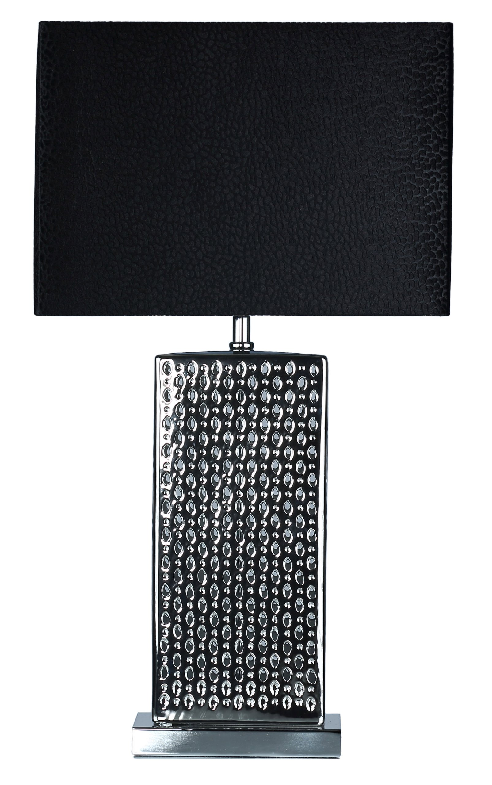 Cortesi Home CH-TL303129 Urban Hive Chrome Accent Lamp with Black Velvet Shade, Chrome
