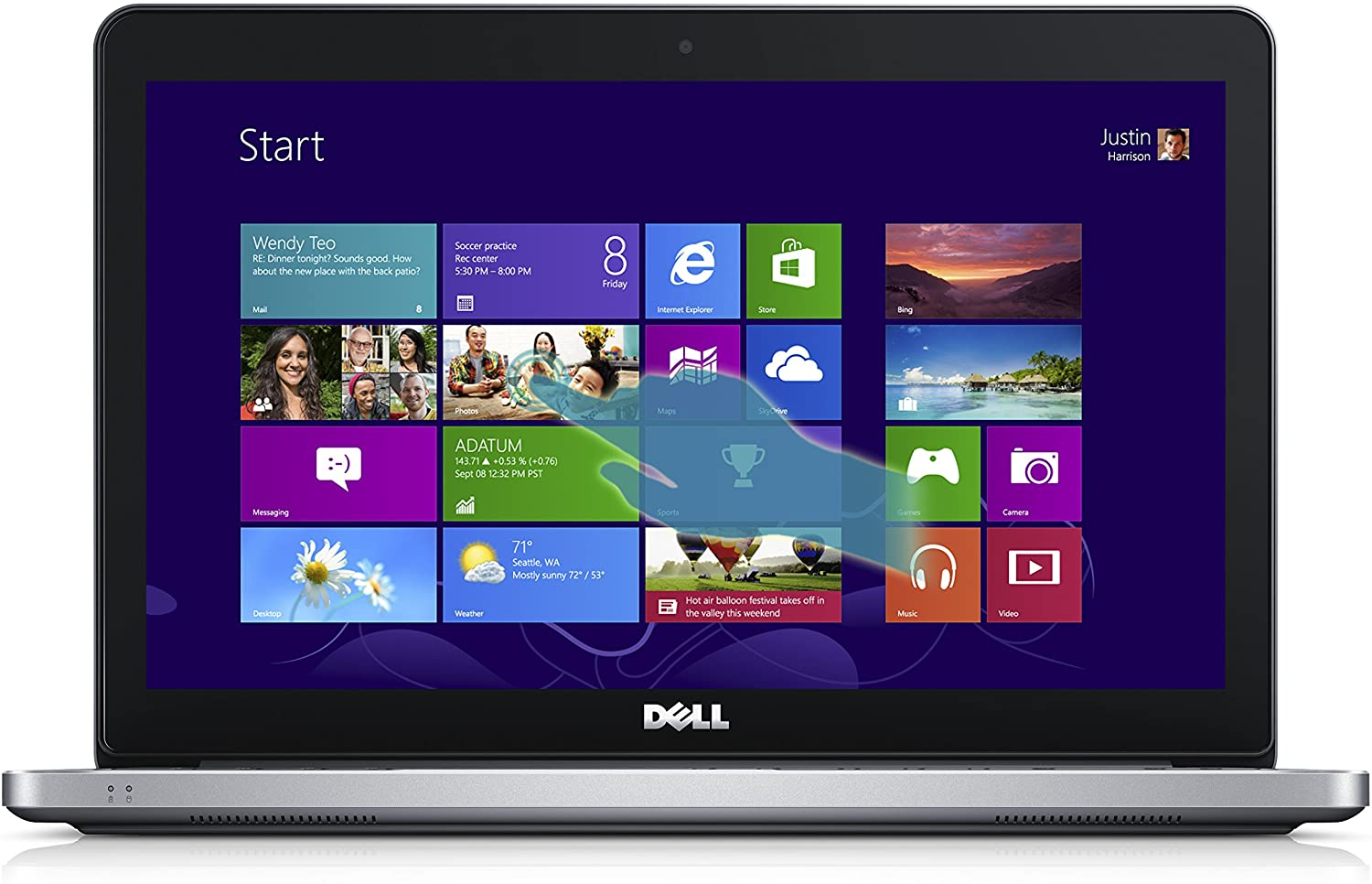Dell Inspiron 15 7000 Series i7537T-1122sLV 15-Inch Touchscreen Laptop (Intel Core i5 Processor, 6GB RAM)