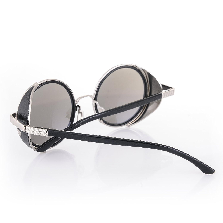 Cyber ronde goggles de soleil des Lunettes de Steampunk Antique Copper (Goggle Nr4) kG16Gl4Gs