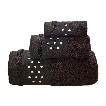 Lunares Toallas De Baño De 4 piezas – Juego de 2 hojas de baño + 2
