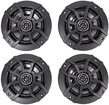 43CSC54 Kicker CSC5 5.25 900W 2 Way 4 Ohm Coaxial Car Audio Speakers 2 Pair