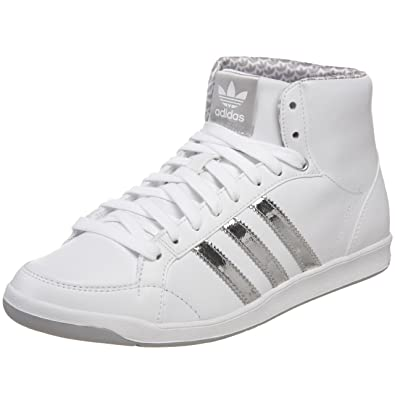newest bdd1e e5c1b adidas Originals Womens adi Hoop Mid Sneaker,WhiteSilverWhite ...