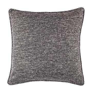 Amazoncom Homier Black Color Linen Blend Decorative Pillow Cover
