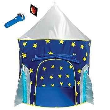 Amazon com: Rocket Ship Play Tent for Boys – Rocket Ship Tent