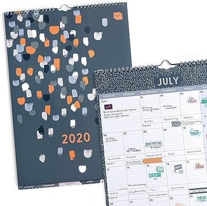 Boxclever Press Perfect Year Calendario 2020 (EN INGLÉS). Planificador mensual con separadores, desde Enero a Diciembre 2020. Calendario pared con amplio espacio, bolsillo y pegatinas de recordatorio: Amazon.es: Oficina y papelería