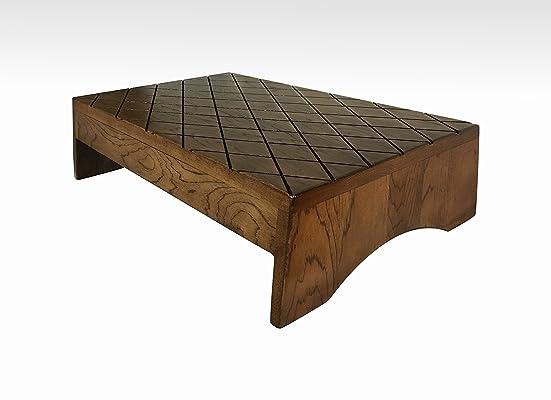 Wood Step Stool, Footstool by CW Furniture, Large, Handicap, Choose Finish, Wooden, Bed, Grandma Gift, Grandpa Gift, Custom