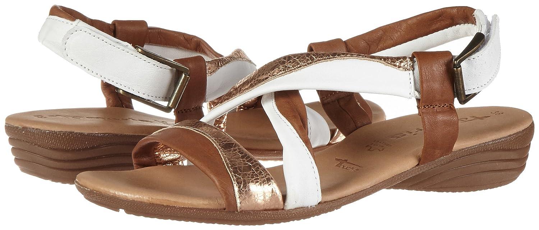 Tamaris Damen 28130 Offene Sandalen Comb mit Keilabsatz Braun (Cognac Comb Sandalen 392) 8627ec