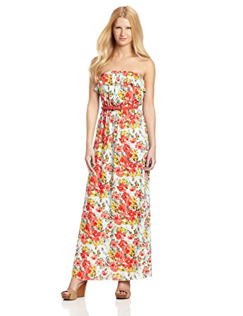 93128907503 Trixxi Juniors Hi-Low Printed Maxi Dress