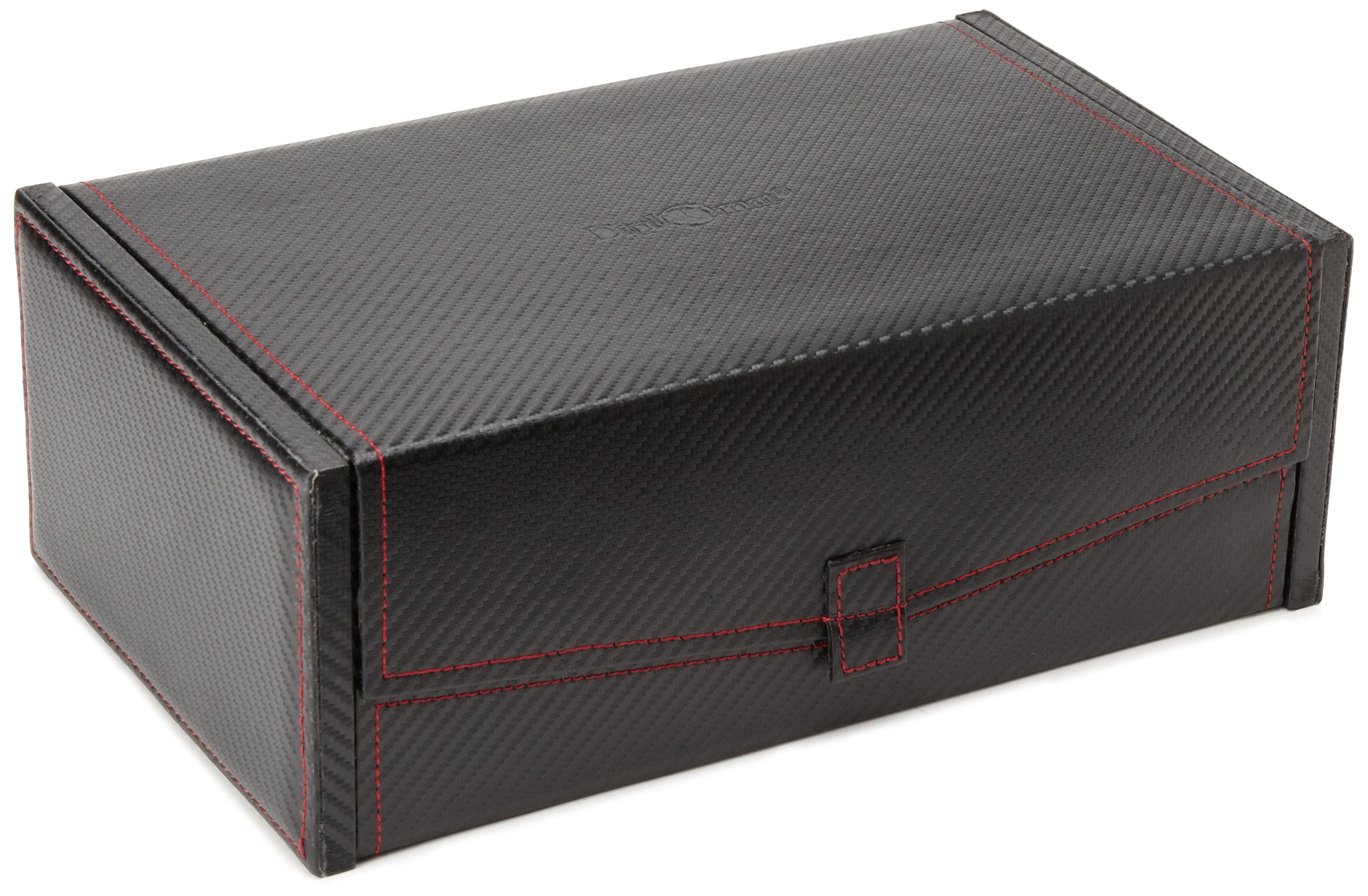 Diplomat 31-444 Carbon Fiber Ten Watch Case with Black Suede Interior and 2 Storage Compartments  Watch Case