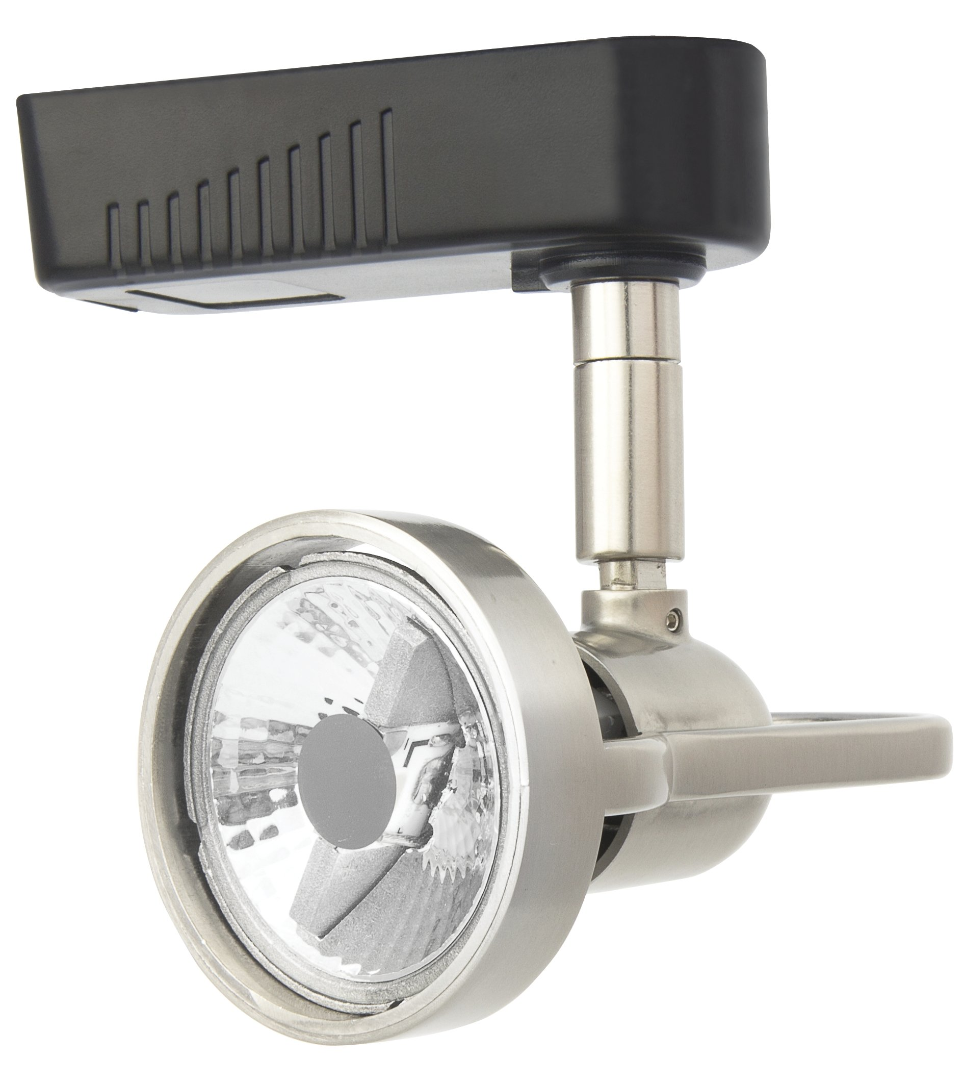 Lithonia Lighting LTH2000 MR16 BN M24 1-Light Front Loading Commercial Track Head, 1-Circuit, Steel, Mr16-Compatible Led, Brushed Nickel