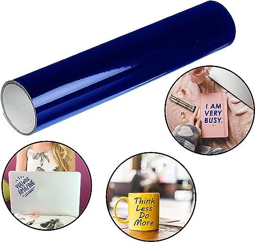 Belle Vous Rollo Vinilo Azul - (30cmx3m) Rollo Vinilo Autoadhesivo - Vinilo Pegatinas y Calcomanías para Pasatiempos, Proyectos de Manualidades, Libros de recortes, Decoración en el Hogar: Amazon.es: Hogar
