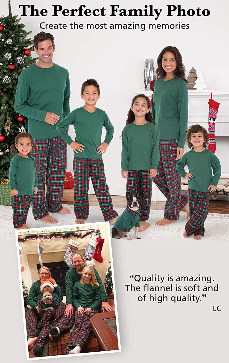 9653573423 Amazon.com  PajamaGram Family Christmas Pajamas Flannel - Christmas PJs  Matching