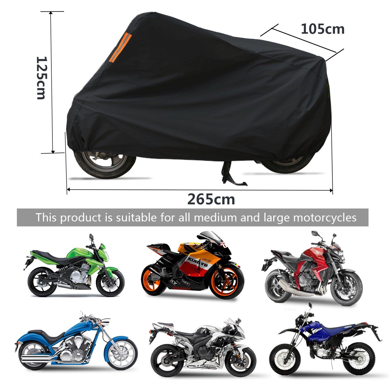 5d62f80f887 WisFox Funda Moto 190T Cubierta Impermeable de Motocicleta Protector  Cubierta Poliester revestido poliéster de para Moto/Motocicleta Funda Cubre  Moto ...