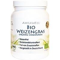 Amlawell Bio-Weizengras-Pulver 500g Dose/aus deutschem Anbau/Rohkostqualität/DE-ÖKO-039