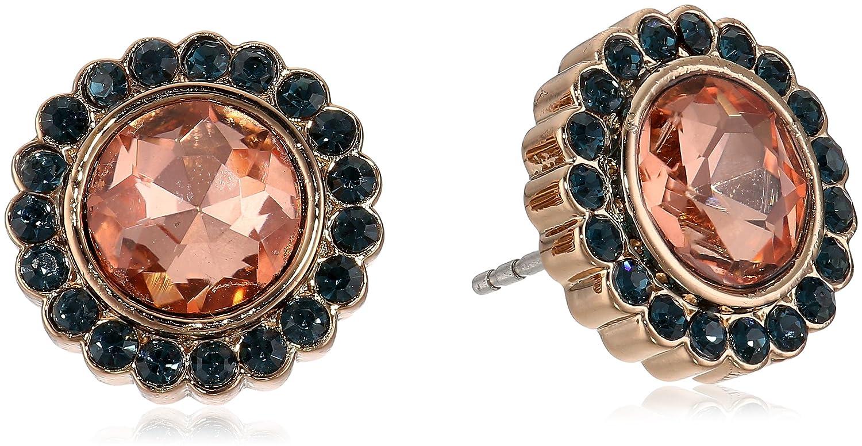 8b6a6d0cd81 Fossil Glitz Glass Stud Earrings, Rose Gold tone: Amazon.co.uk ...