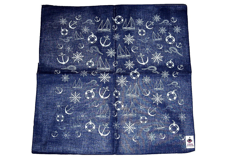 Zacs Alter Ego/® Nautical Anchor Navy Bandana Hippy Neckerchief 100/% Cotton