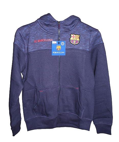 Sudadera FC Barcelona Capucha Abierta Infantil: Amazon.es: Ropa y accesorios