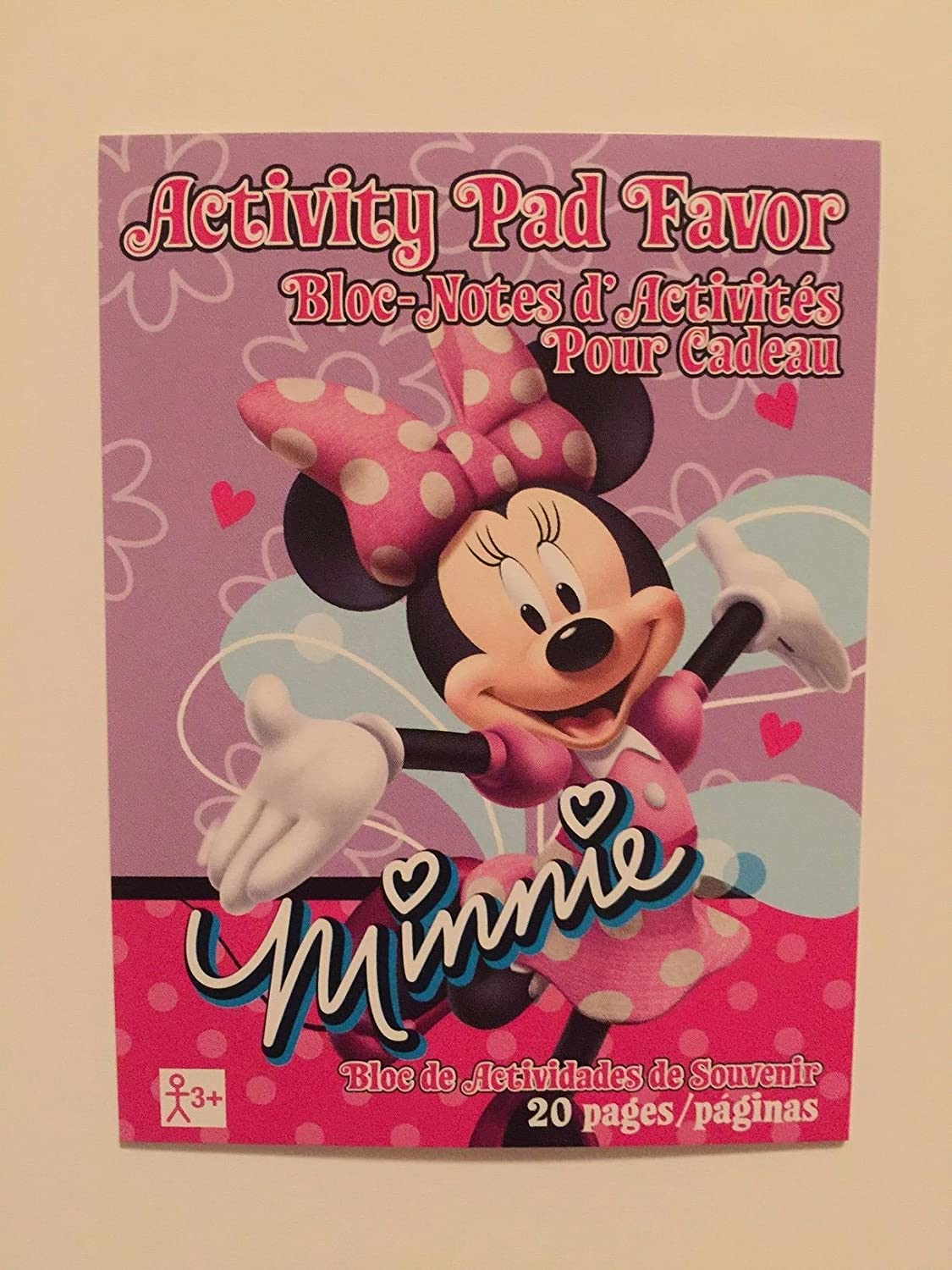 Set of 12 Minnie Mouse Mini Activity Pad Party Favors Design Ware