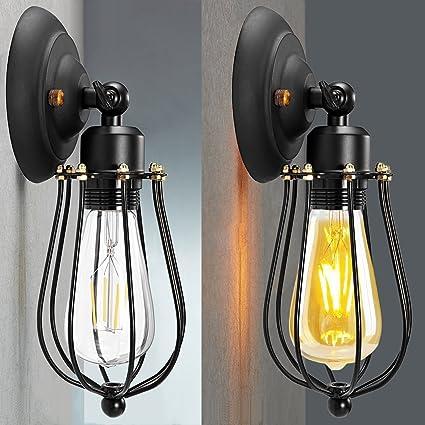 Amazon.com: LED Wall Light Shade, CMYK Retro Vintage Wall Lamp ...