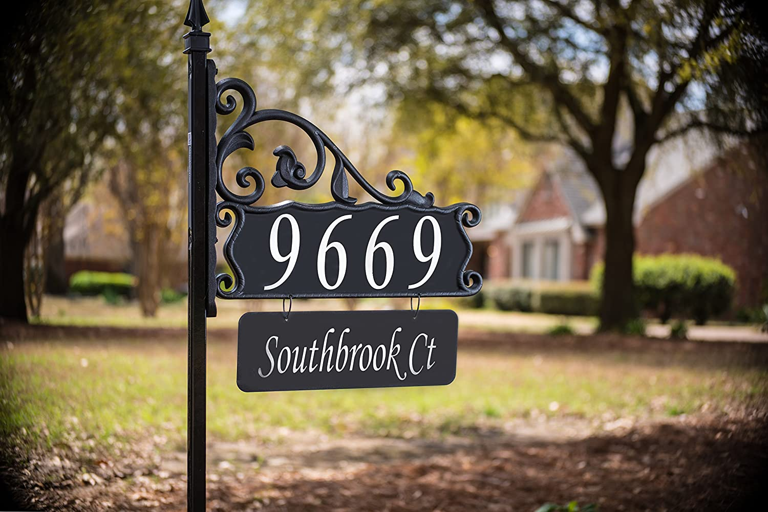 Custom 20 House Address Numbers Plaque Handcrafted 208 Superb Home ...