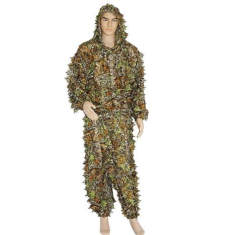 Moumou Ghillie Trajes Woodland Camuflaje Camuflaje 3D ...