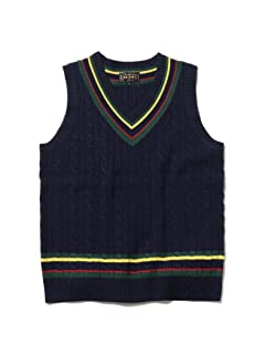 Beams Plus Wool Cricket Vest 11-05-0123-103: Navy