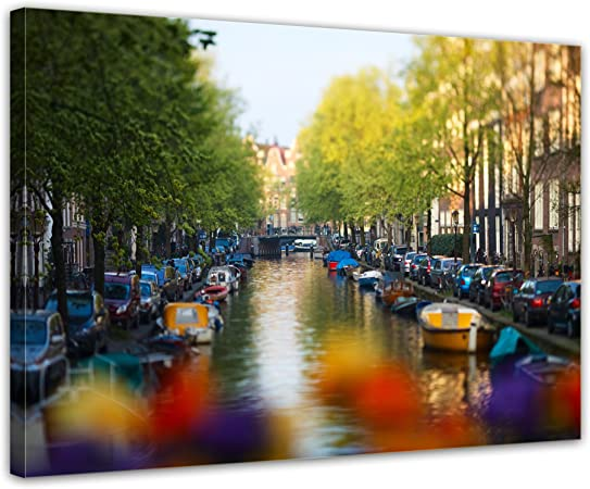 Bilderdepot24 Cuadros en Lienzo Ámsterdam - Países Bajos - 70x50 ...