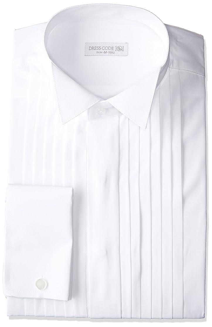 いらいらするコレクション静的[ドレスコード101] スマシャツ 超形態安定 ノーアイロン メンズ 長袖 ワイシャツ 綿100% 【すっきりシルエット】スリム KWGL10