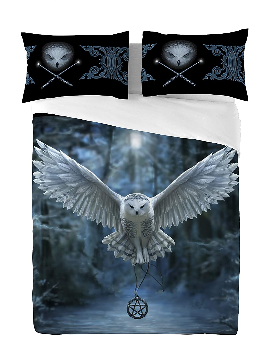 AWAKEN YOUR MAGIC Duvet & Pillows Case Covers Set for Double Twin Bed Artwork By Anne Stokes by Wild Star@Home