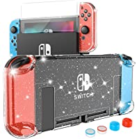 HEYSTOP Crystal Case for Nintendo Switch, Dockable Glitter Bling PC Protective Case Compatible with Nintendo Switch…