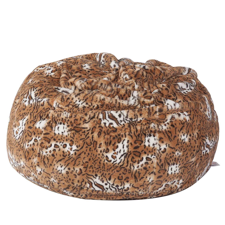 d16843e4d6ed Big Furry Bean Bag Chair Glam Large Plush Faux Fur Beanless Bag Chair Comfy  Dorm Chairs Soft Sofa Lounger for Whole Family