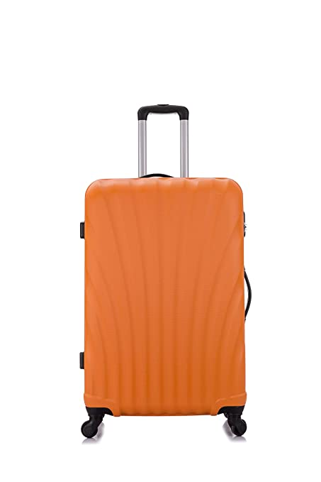 24Medium Checked Fall Leaves Suitcase