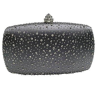 Amazon.com: dmix Womens vidrio Caja embrague y bolsas de ...
