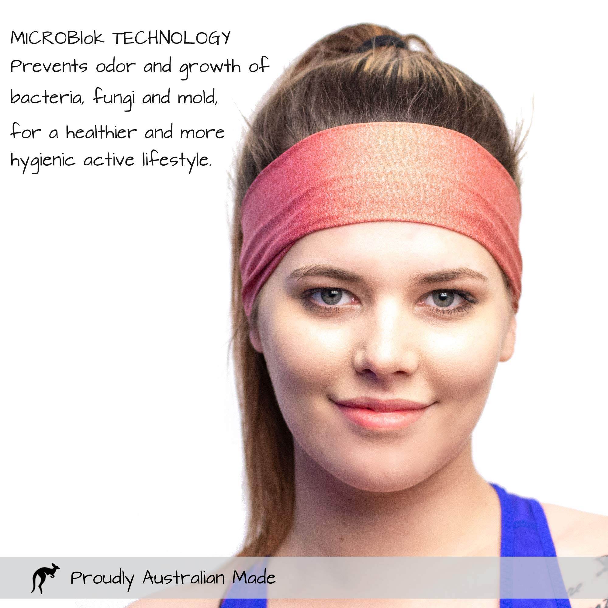 Red Dust Active Sports Headband - Lightweight, Wide & Moisture Wicking - The Ideal Red Running Sweatband - Designed for Women by Red Dust Active (Image #4)