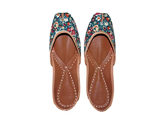 58c5de34c1cfdb desiColour Jooti Floral Printed Leather Juti Punjabi Jutti Mojari Naagra Casual  Daily Party Wear for Women s