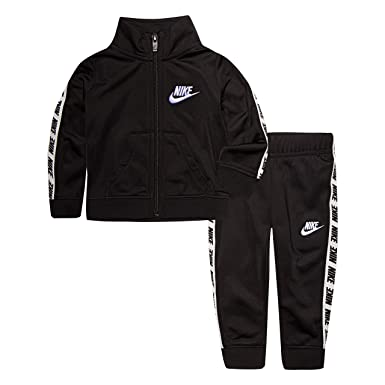 50a290aaf5e Nike Baby Girls' Toddler Tricot Track Suit 2-Piece Outfit Set, Black,