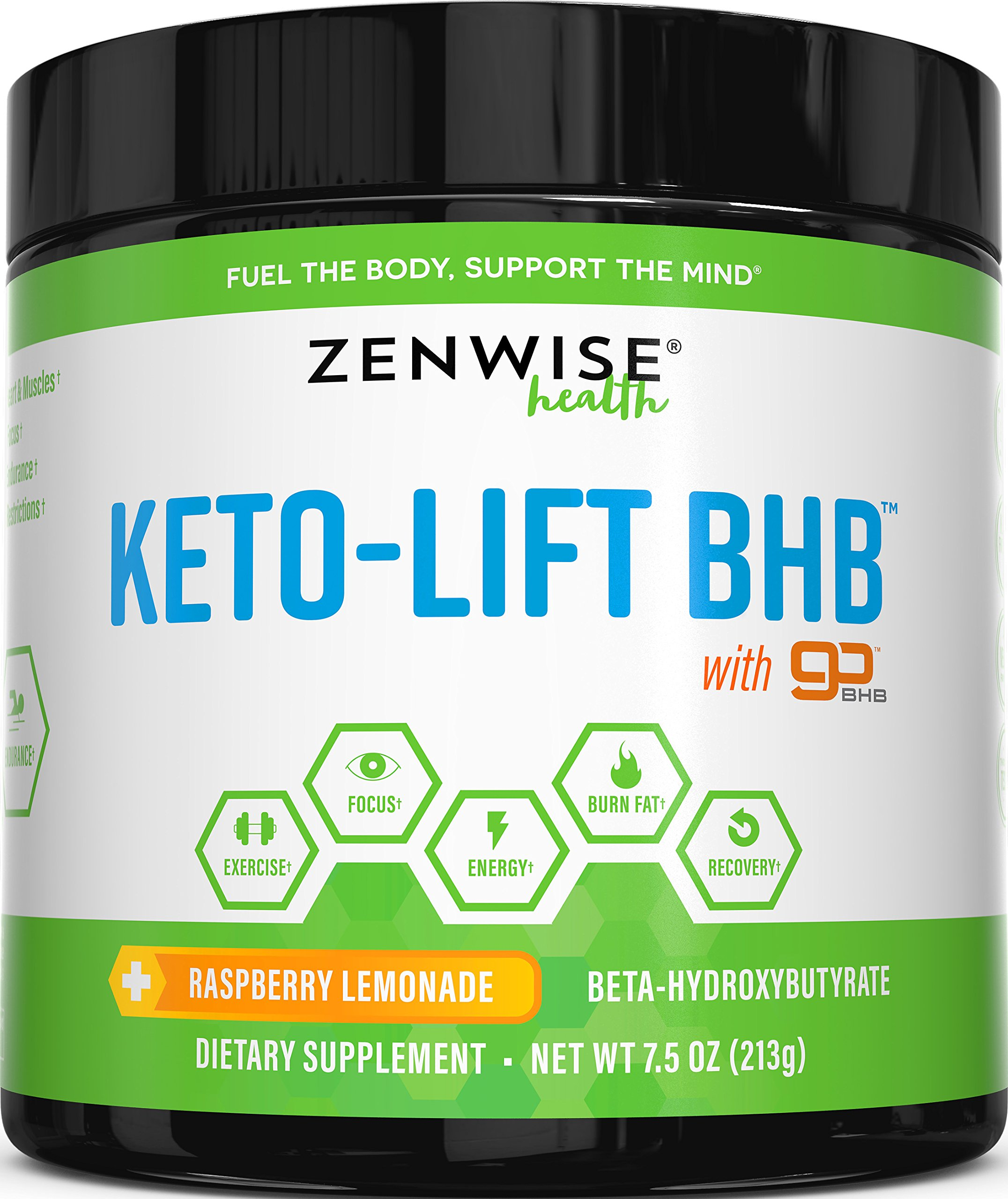 Keto BHB Salts Supplement with goBHB - Beta Hydroxybutyrate Exogenous Ketones to Achieve Perfect Ketosis - Energy Boost for Workouts & Focus + Weight Loss & Fat Burn - Raspberry Lemonade - 7.5 OZ by Zenwise Health