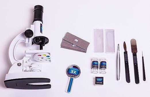 Teiliges mikroskop set mit  objektiv u limitierte
