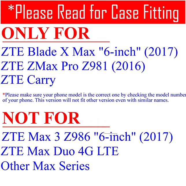 Amazon.com: ZTE Blade X Max , ZMax Pro Case, Hybrid 2-Layer Shock Proof Rugged Armor Hard Cover Case by URAKKI for ZTE Blade X Max / ZTE Z MAX Pro Carry ...