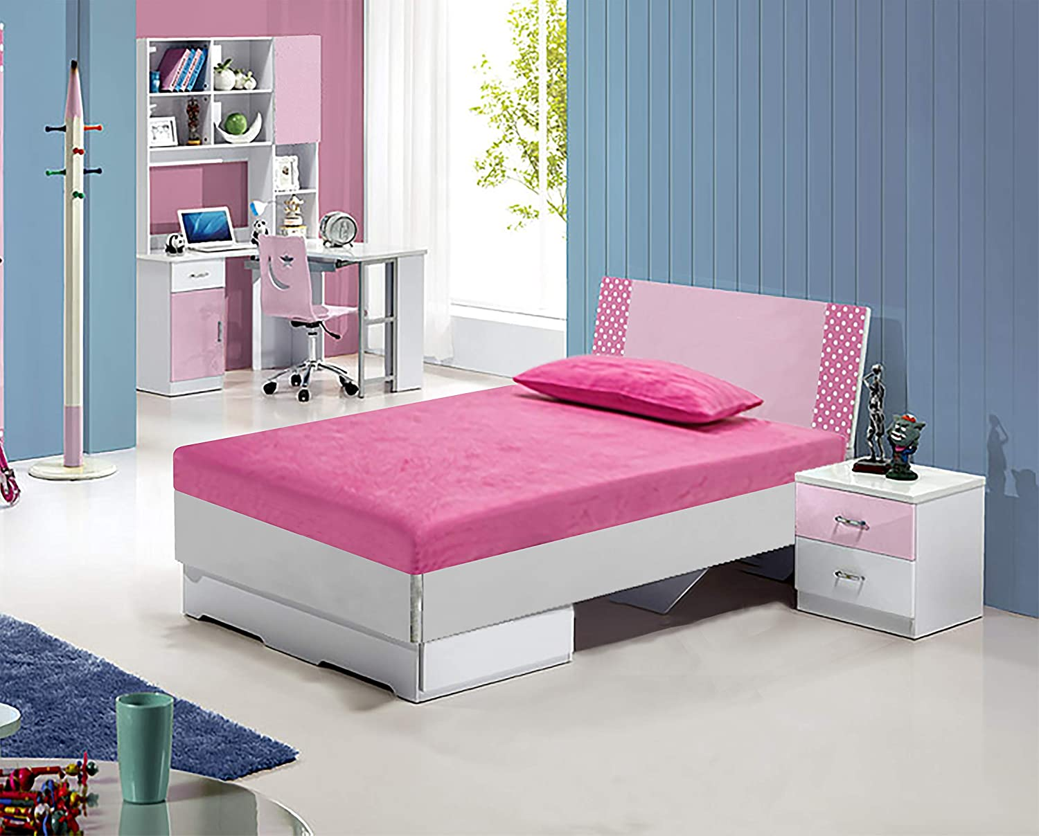 Irvine Home Collection M7Pink Kids 6 Gel Memory Foam Size Mattress, Twin, Pink