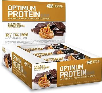 Optimum Nutrition Barrita de Proteína, Chocolate & Peanut Butter - 10 Barritas
