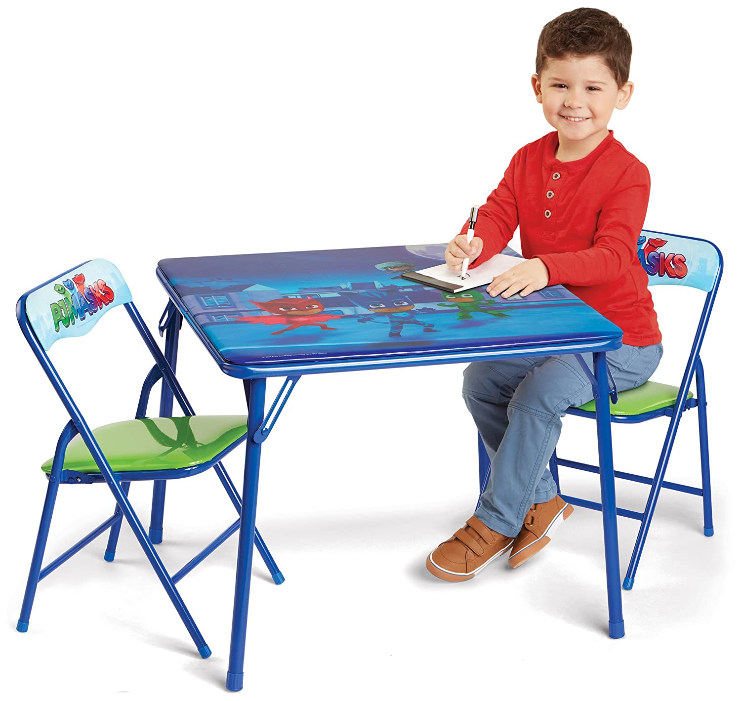 Spiderman Spider-Man Super Hero Adventures Activity Table Set with 2 Chairs Play Two, Spiderman Moose Mountain - Domestic 63669