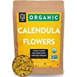Organic Calendula Flowers | Whole | 4oz Resealable Kraft Bag | 100% Raw From Egypt | by FGO